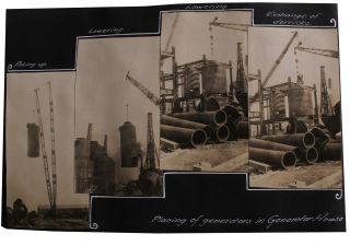 Photo Album Documenting the Construction of a Gas Plant in the Bronx.