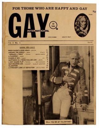 Gay International. Vol. 2 No. 1, April 1965. Robert Maynard