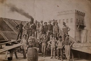 Photo Album Depicting Construction Crews
