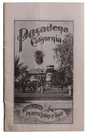 Pasadena. Los Angeles County California in 1900