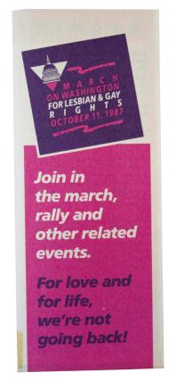 March on Washington for Lesbian and Gay Rights October 11, 1987