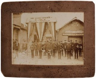 Photograph Depicting the Irvington Brass Band in Sausalito