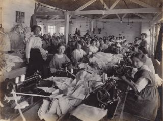Clothing Manufacturer Photo Album With Emphasis on Female Garment Industry Workers. Robert...