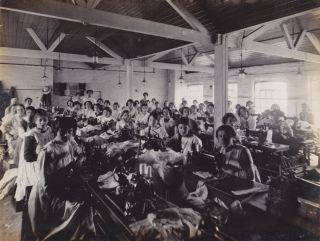 Clothing Manufacturer Photo Album With Emphasis on Female Garment Industry Workers.