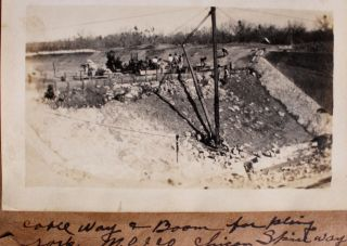 Photo Album Detailing Projects of the Medina County Irrigation Company.