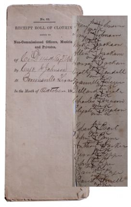 Receipt Roll of Clothing Issued to Non-Commissioned Officers, Musicians and Privates of Co....