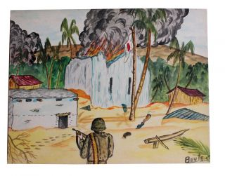 """""""Beute."""" Collection of Artwork Related to Combat in the South Pacific."""