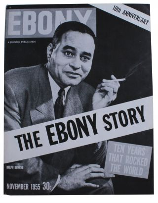 The Ebony Story. Ten Years That Rocked the World. [Cover title