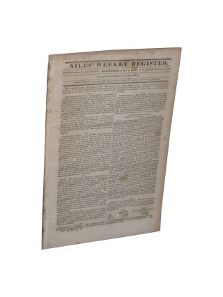 Newspaper with Contemporary Accounts of Aftermath of Murel Affair Including Vicksburg Massacre
