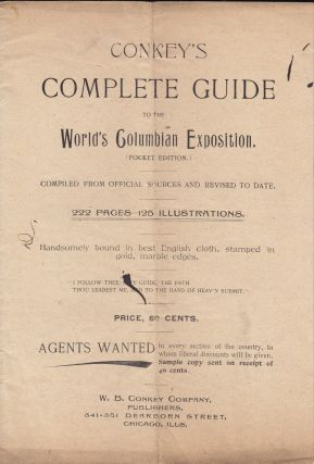 Advertising Pamphlet For] Conkey's Complete Guide to the World's Columbian Exposition