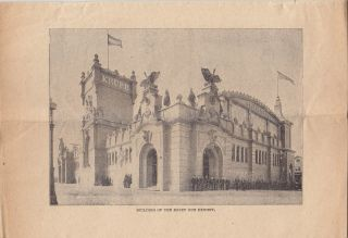 [Advertising Pamphlet For] Conkey's Complete Guide to the World's Columbian Exposition.