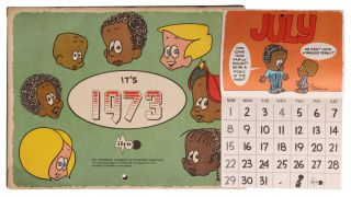 African Americana][Comic Strips] it's 1973 [Luther Wall Calendar]. Brumsic Brandon Jr