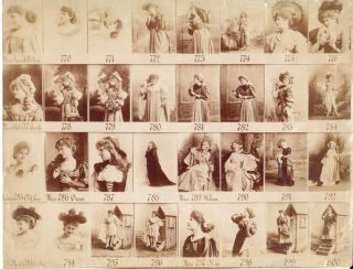 Albumen Proof Sheet of Female Opera Performers