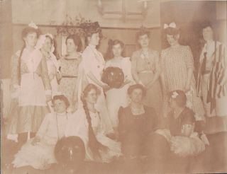 Photo Album of Young Women, Possibly of Delta Gamma Sorority At University of Michigan, Having a Ball