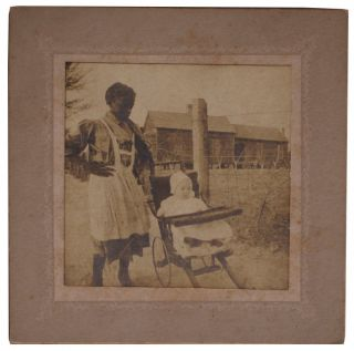 Series of Photos Depicting African American Nanny.
