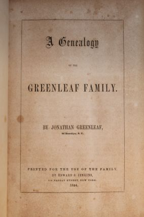 A Genealogy of the Greenleaf Family